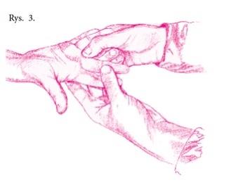 po porodzie, masaż dłoni